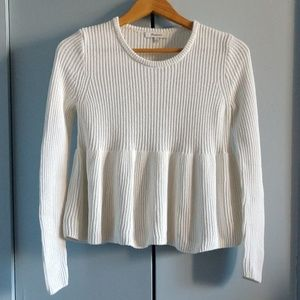MADEWELL SHAKER KNIT SWEATER OFF WHITE